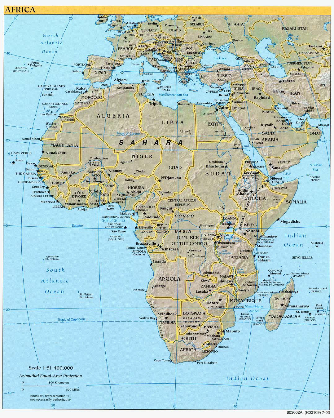 Picture of: Large Detailed Political And Relief Map Of Africa Africa Large Detailed Political And Relief Map Vidiani Com Maps Of All Countries In One Place