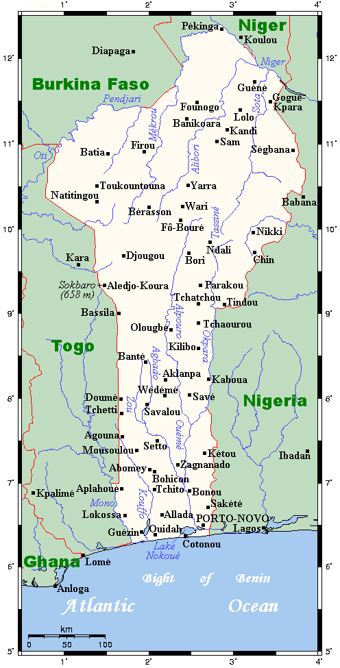 All cities of Benin on the map. All Benin cities on the map.