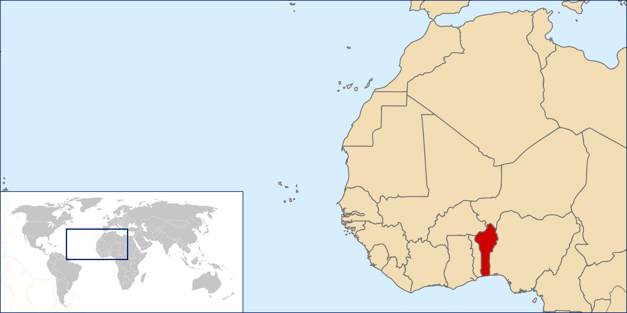 Benin location map. Map of Benin location | Vidiani.com | Maps of ...