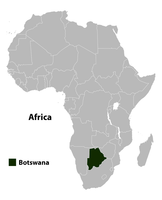 Botswana location map. Location map of Botswana.