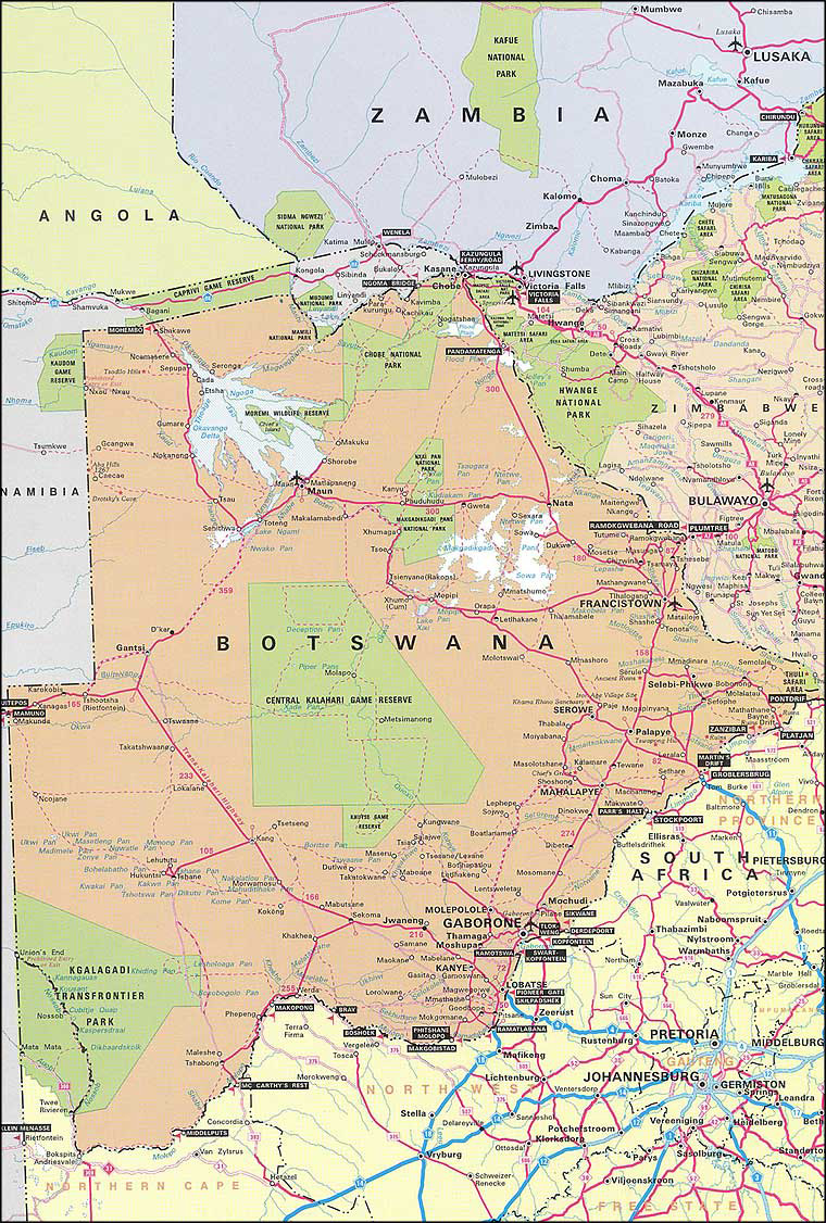 Detailed road map of botswana botswana detailed road map detailed road map of botswana botswana detailed road map gumiabroncs Image collections