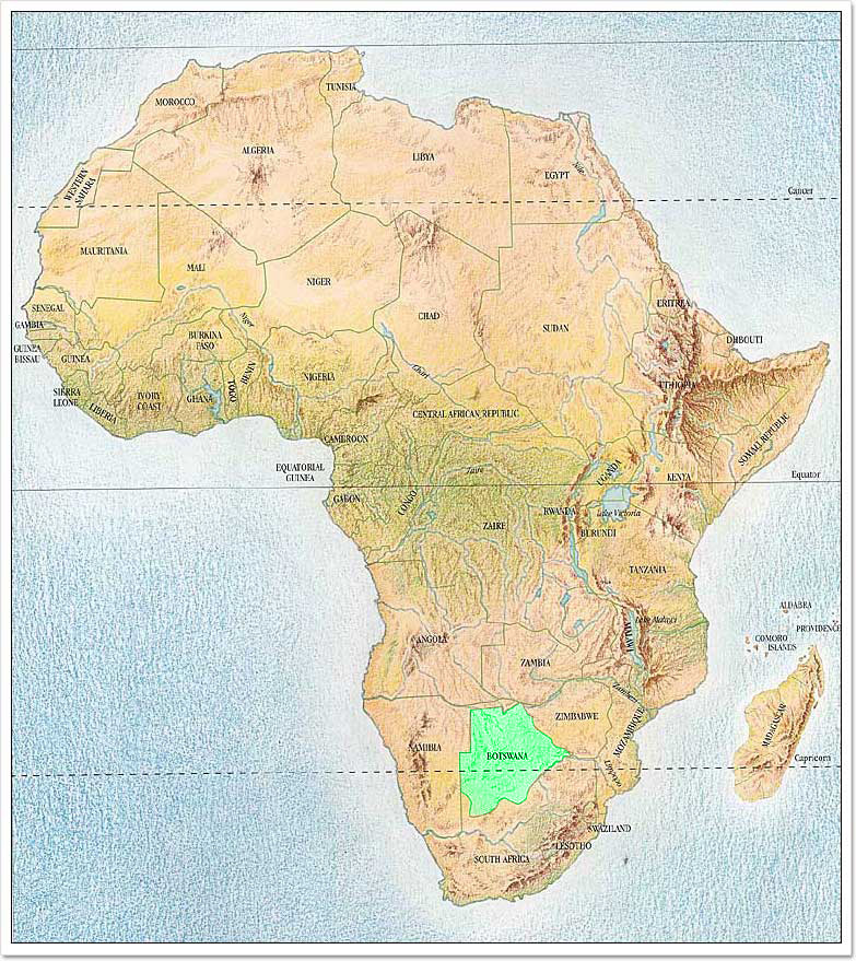 Detailed topographical map of Africa Africa detailed topographical