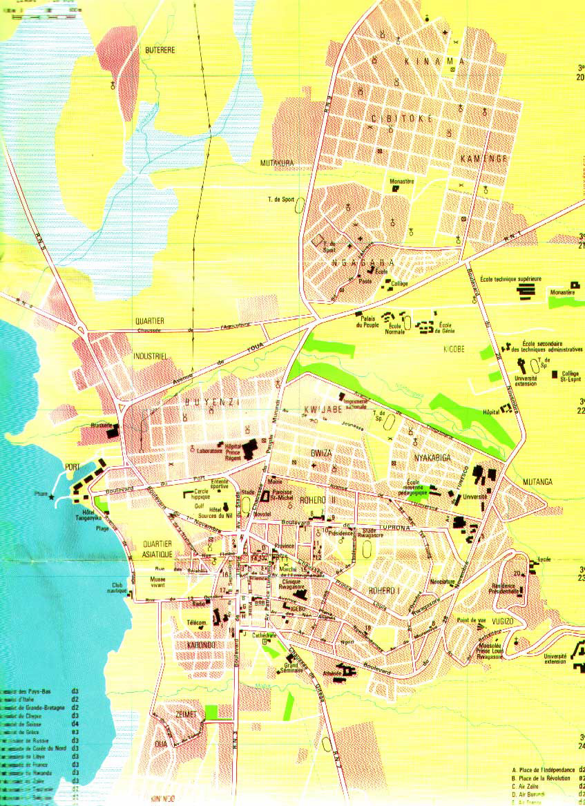 Detailed Map Of Bujumbura City Bujumbura City Detailed Map - bujumbura map