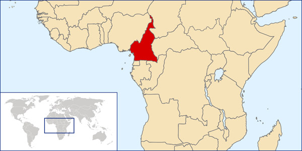 Detailed Cameroon location map. Detailed location map of Cameroun.