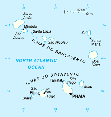 Map of Cape Verde. Cape Verde map.