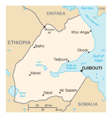 Map of Djibouti. Djibouti map.