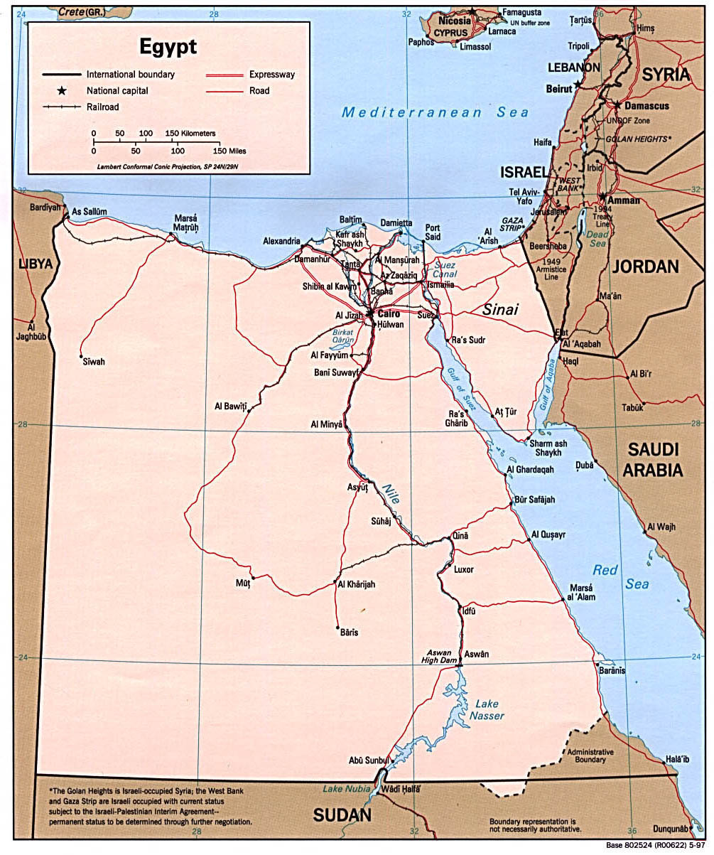 Egypt Political Map Political Map Of Egypt Vidiani Com Maps Of All Countries In One Place