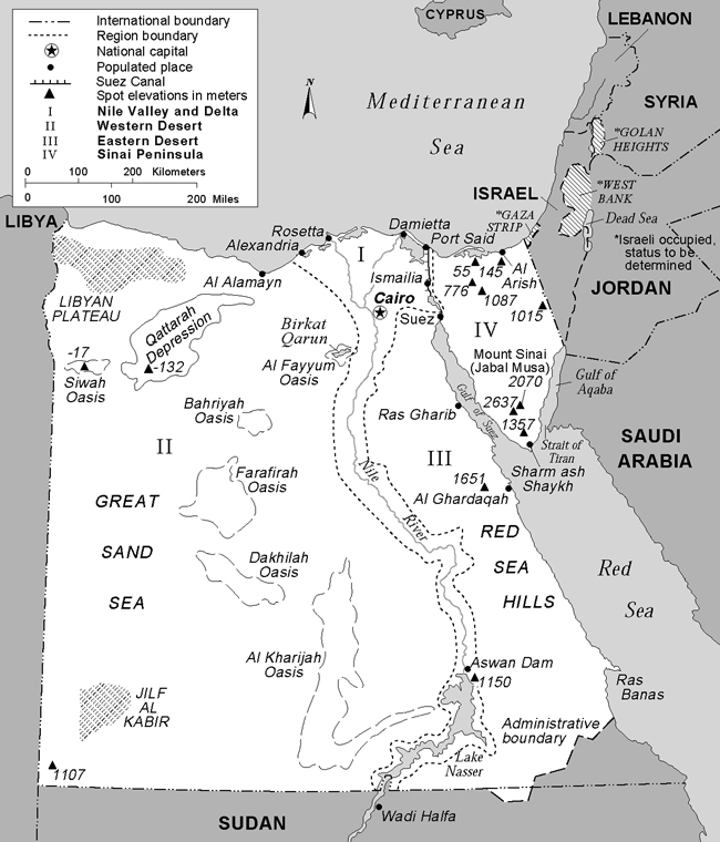 Map of Egypt. Egypt map.