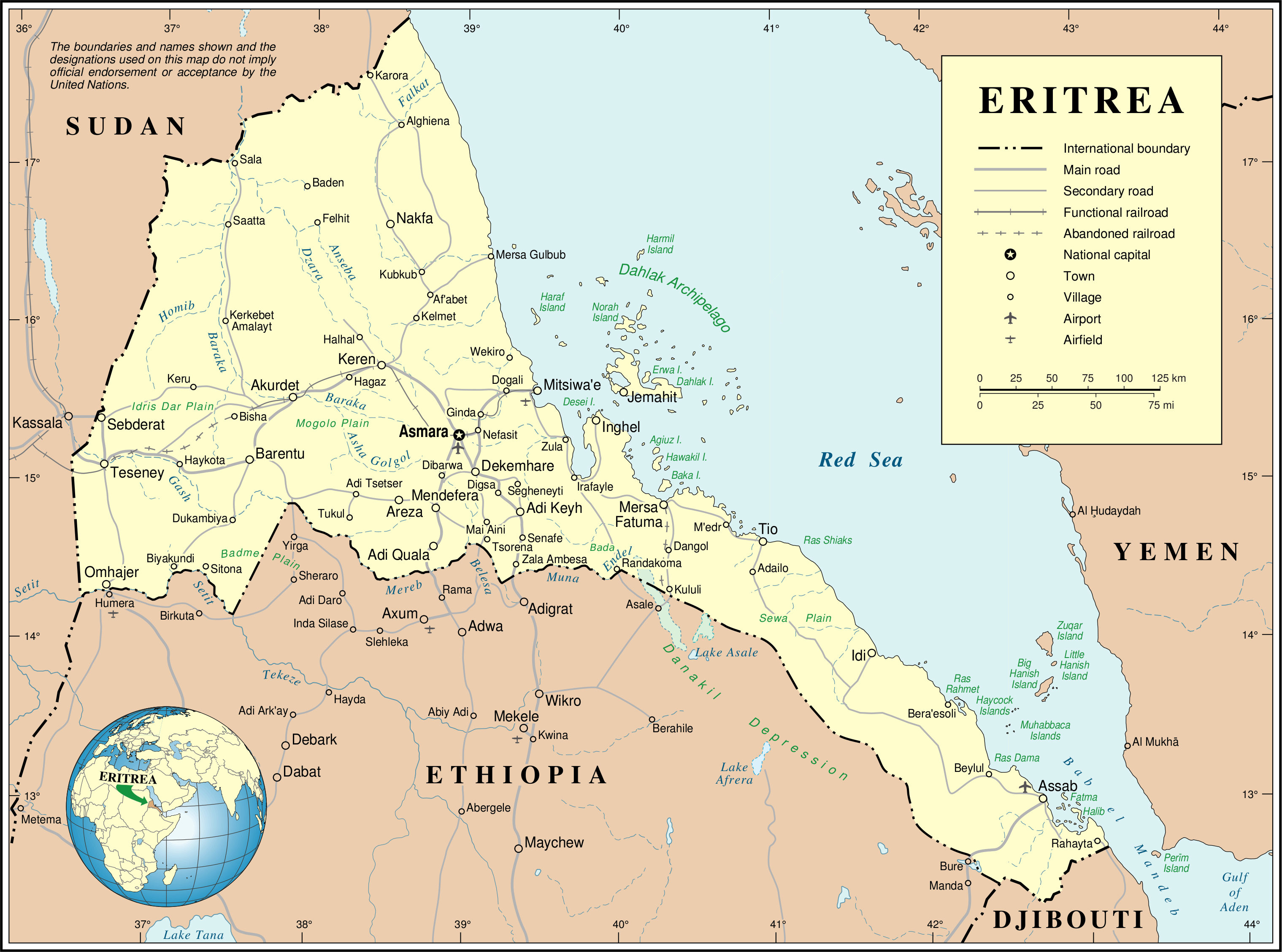 Detailed political map of eritrea eritrea detailed political map detailed political map of eritrea eritrea detailed political map gumiabroncs