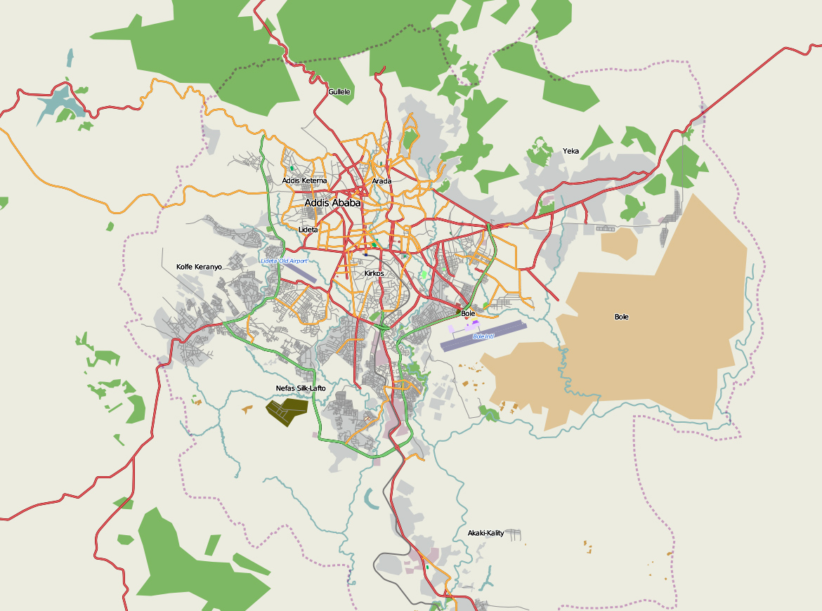 General map of Addis Ababa. Addis Ababa general map | Vidiani.com ...