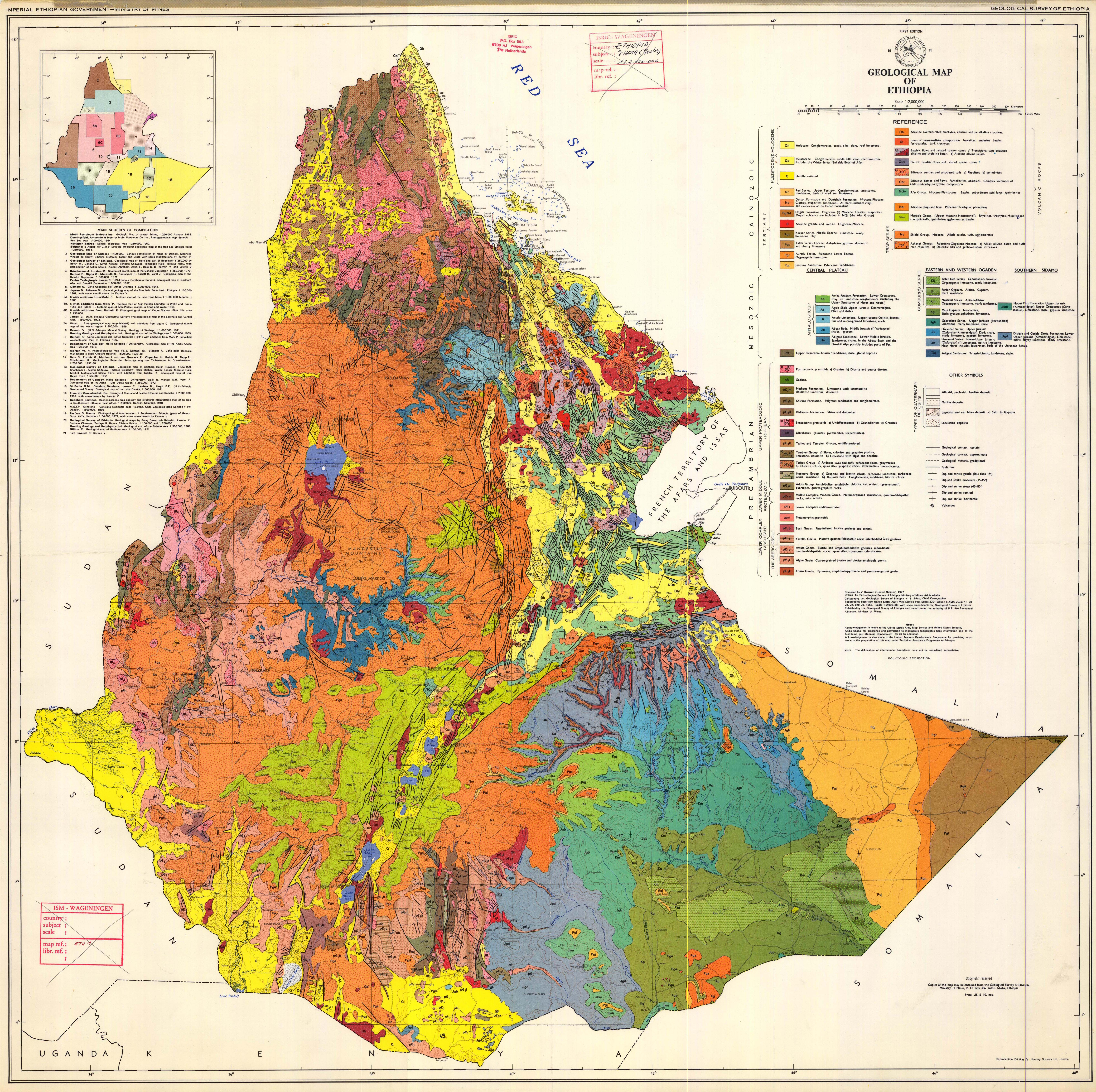Geological Map Of Spain.Large Detailed Geological Map Of Ethiopia Ethiopia Large Detailed