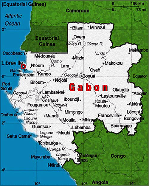 All Cities In Gabon On The Map All Gabon Cities On The Map - Gabon map