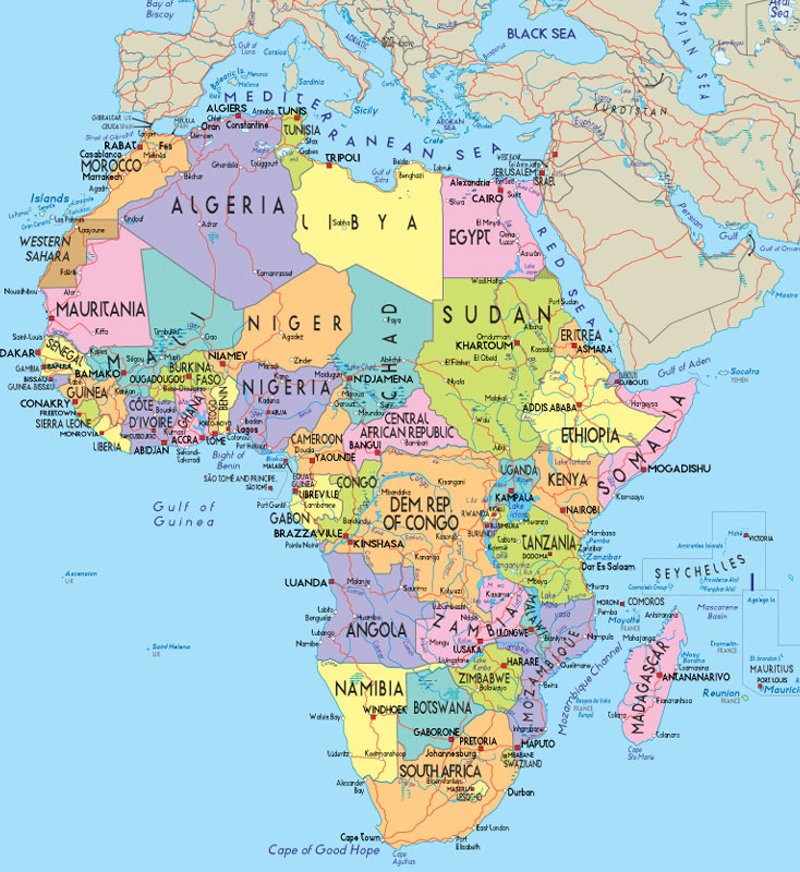 Africa political map. Political map of Africa | Vidiani.| Maps