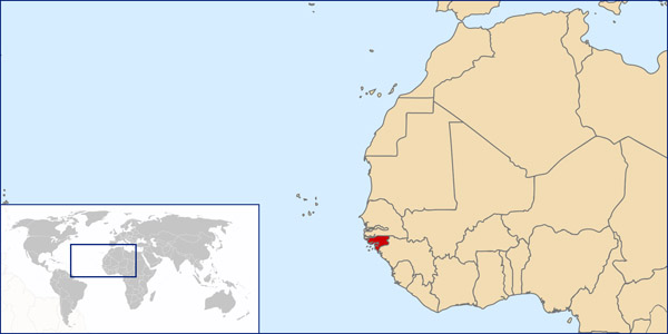 Guinea-Bissau location map. Location map of Guinea-Bissau.