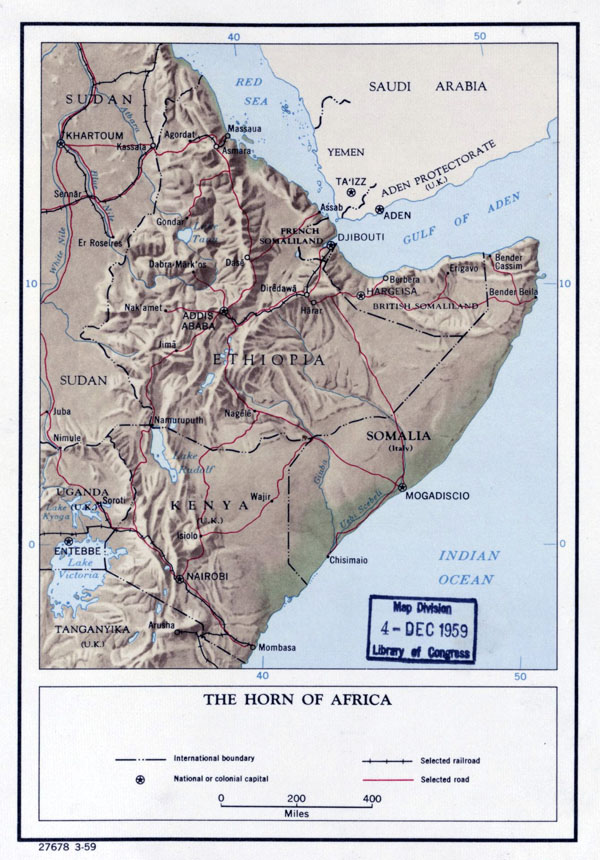 Large Detailed Political Map Of The Horn Of Africa With