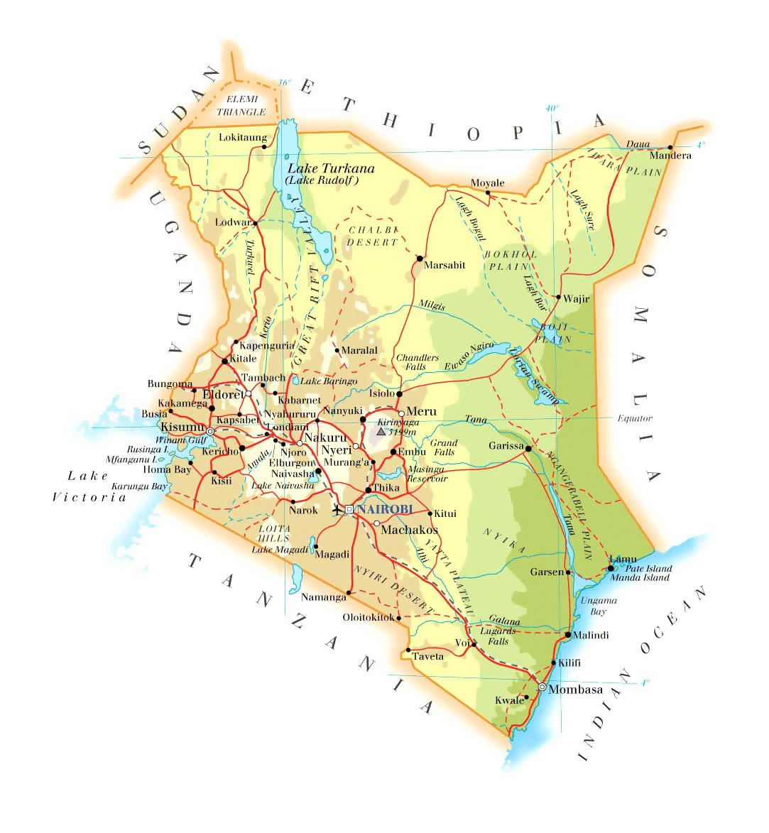Image result for map kenya