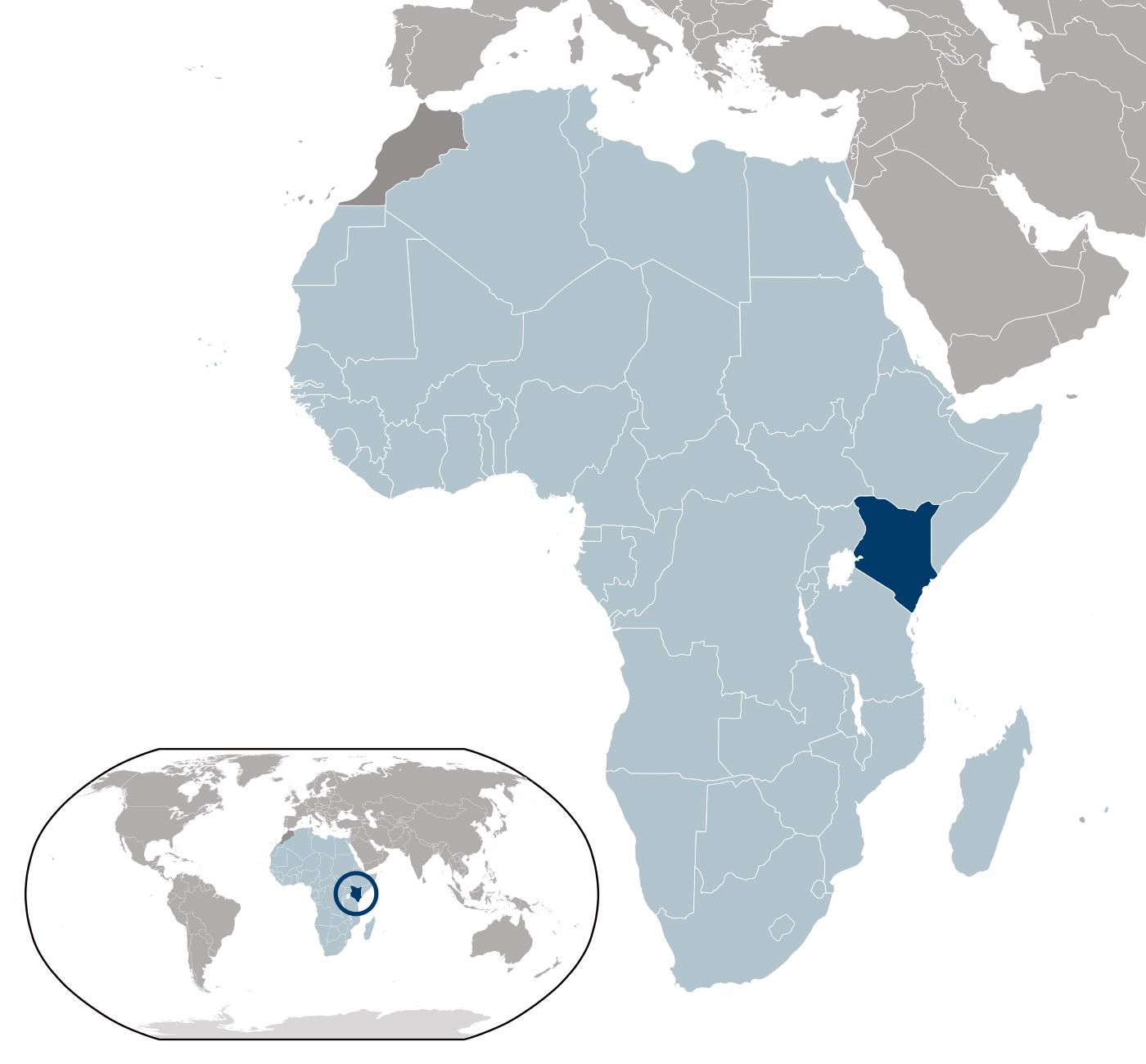 Large detailed Kenya location map Kenya large detailed location map