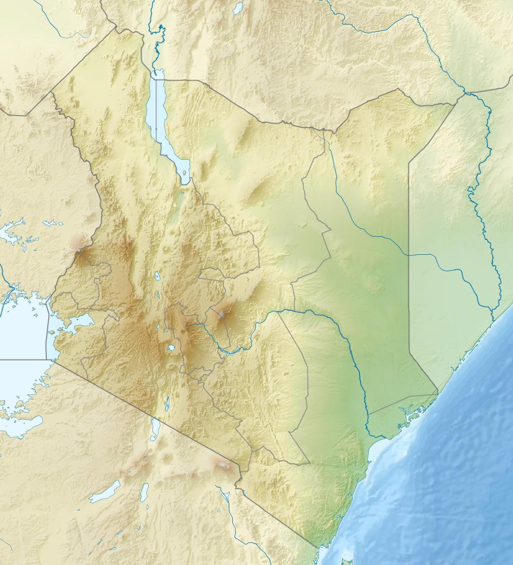 Large detailed relief map of Kenya Kenya large detailed relief map