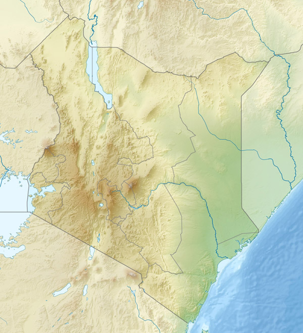 Large detailed relief map of Kenya. Kenya large detailed relief map.