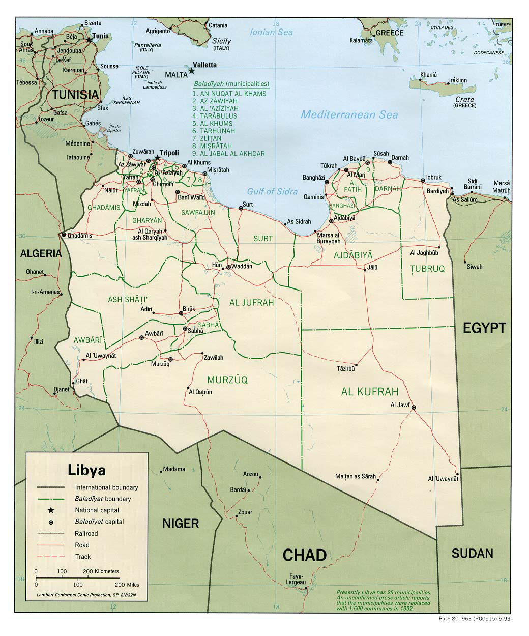 Detailed political and administrative map of Libya Libya detailed