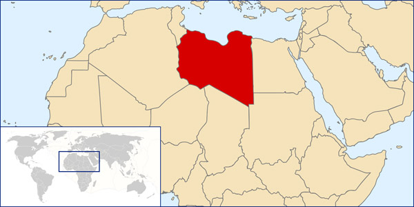 Libya detailed location map. Detailed location map of Libya.