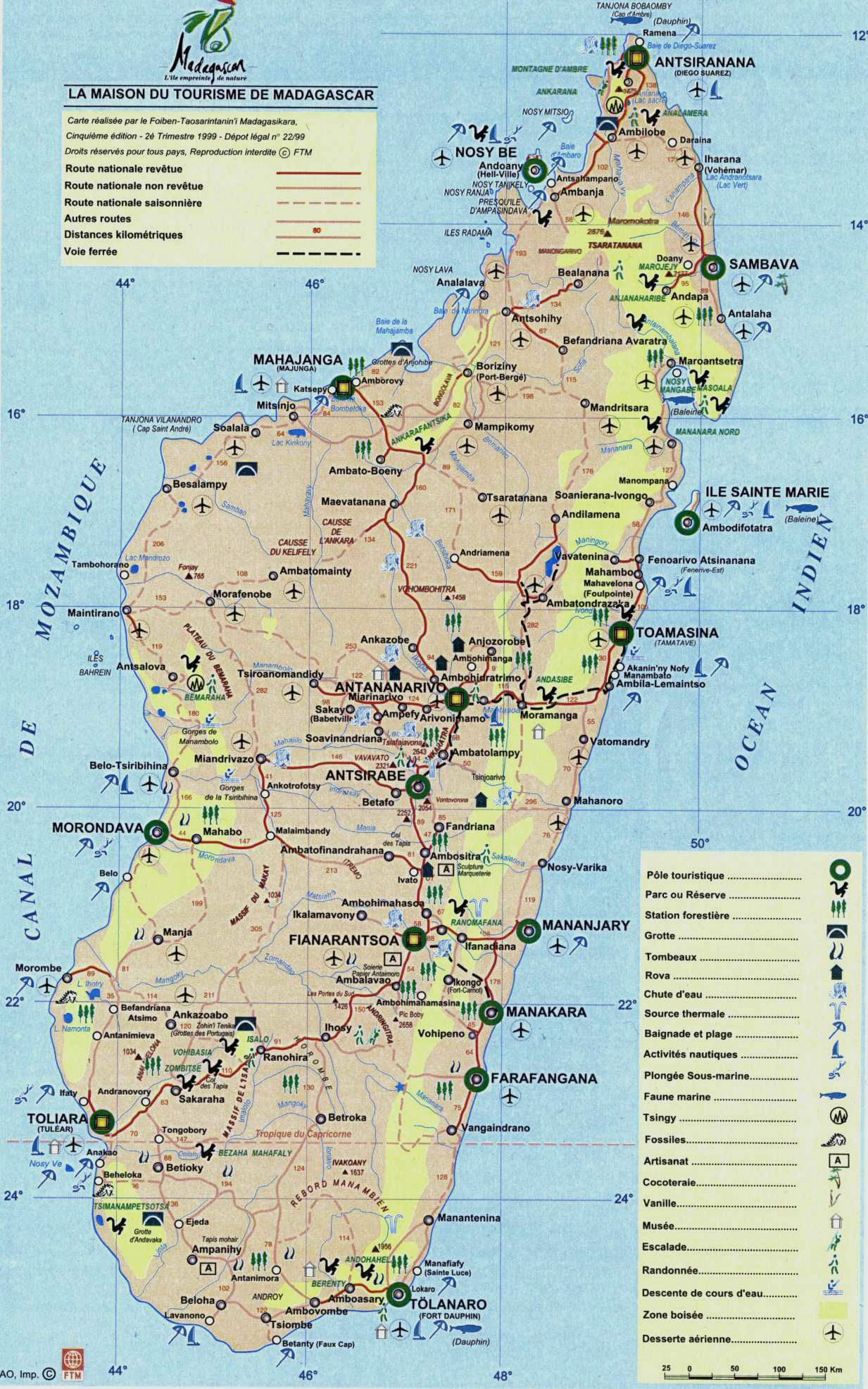 Detailed Tourist Map Of Madagascar Madagascar Detailed Tourist - Madagascar map