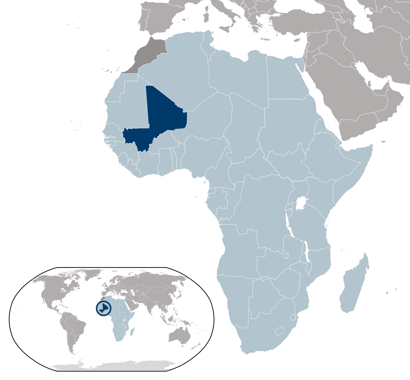 Mali detailed location map Detailed location map of Mali Map