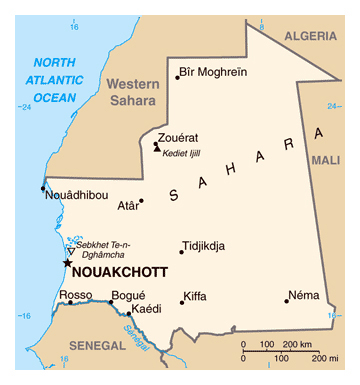 Map of Mauritania Mauritania map Vidianicom Maps of all