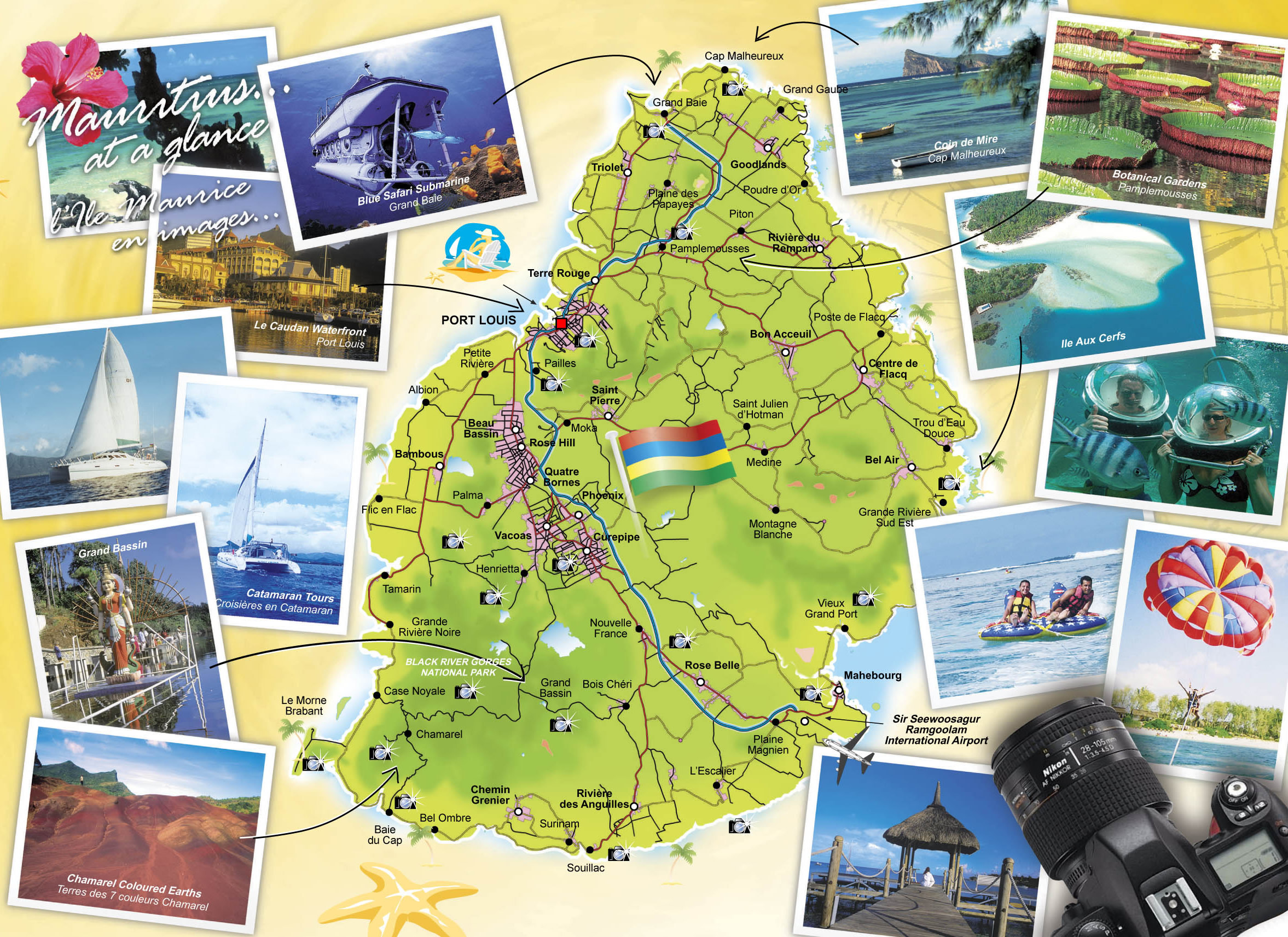 Detailed travel map of Mauritius. Mauritius detailed travel map ... Mauritius Travel Maps