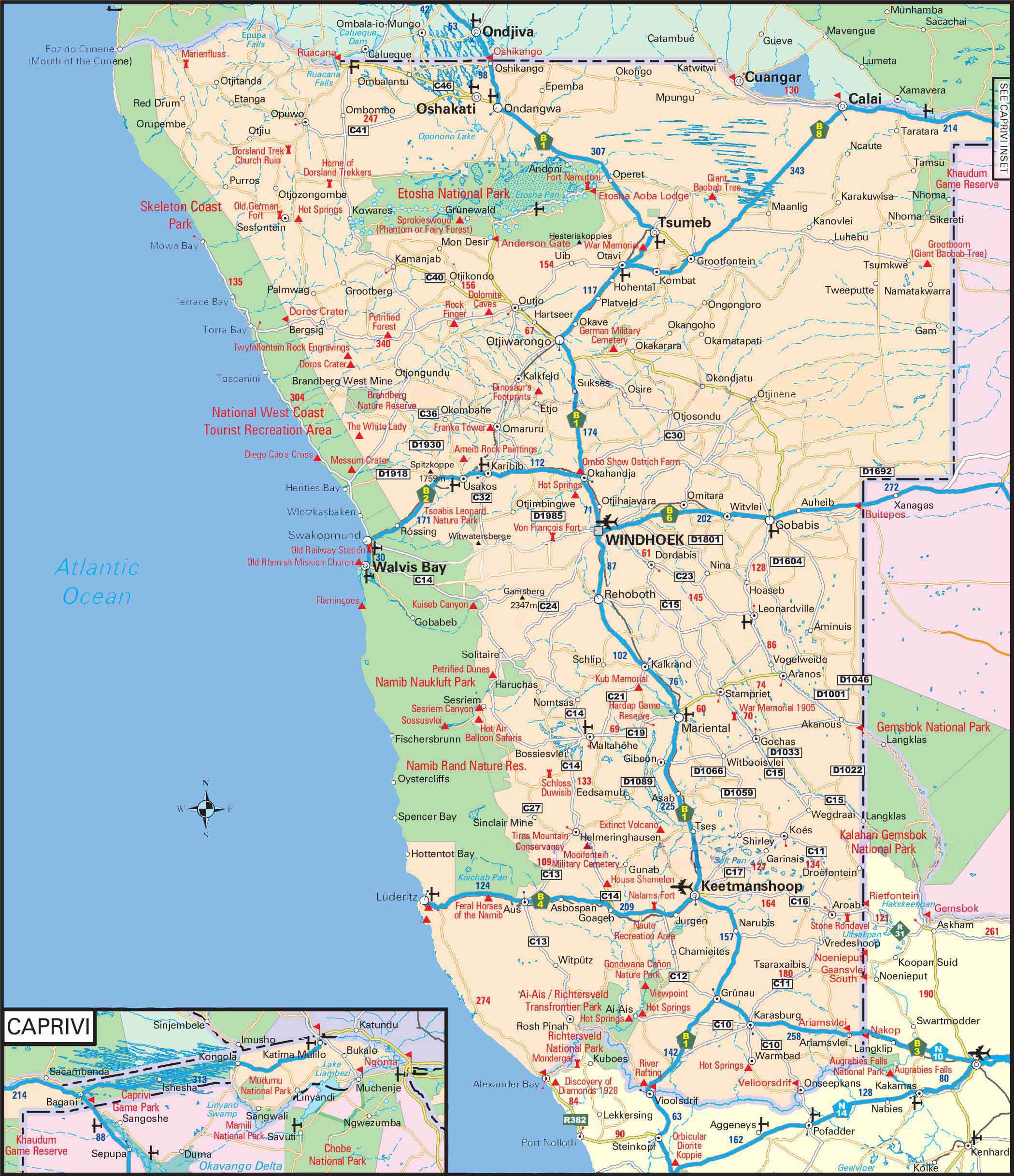 Karte Namibia Download.Namibia Selbstfahrer Im Camper Durch Traumlandschaften Reiseblog