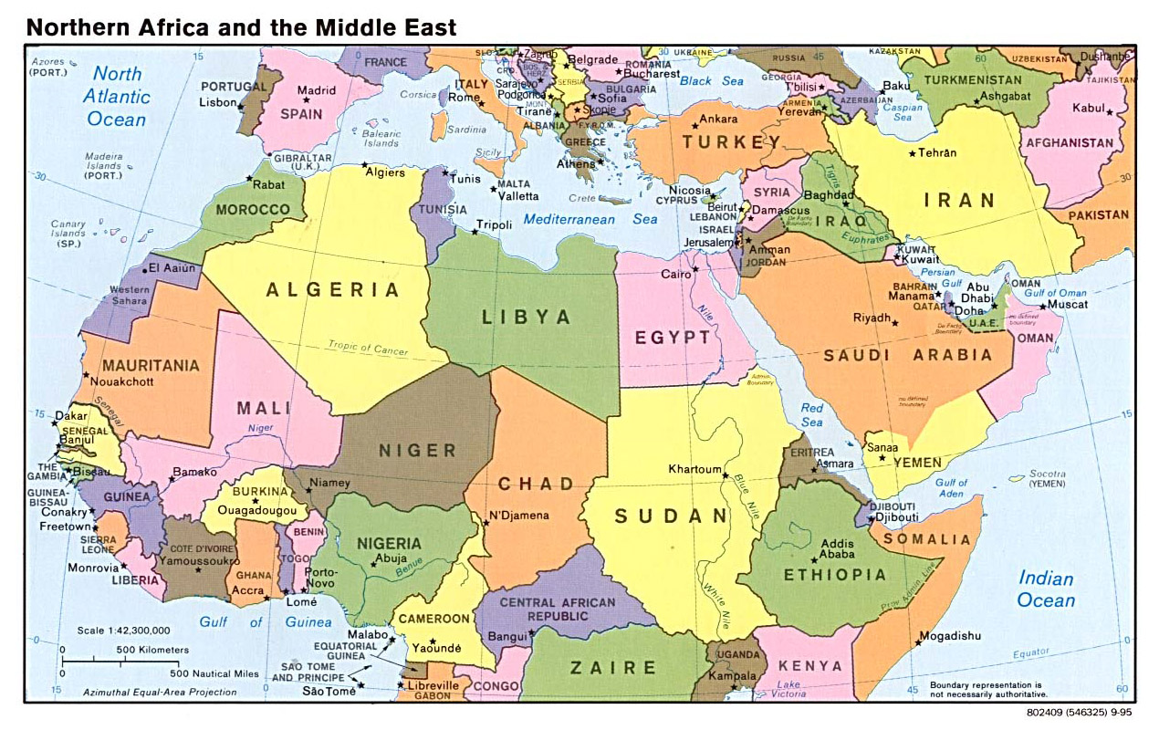 Image Gallery of Middle East Map With Capitals