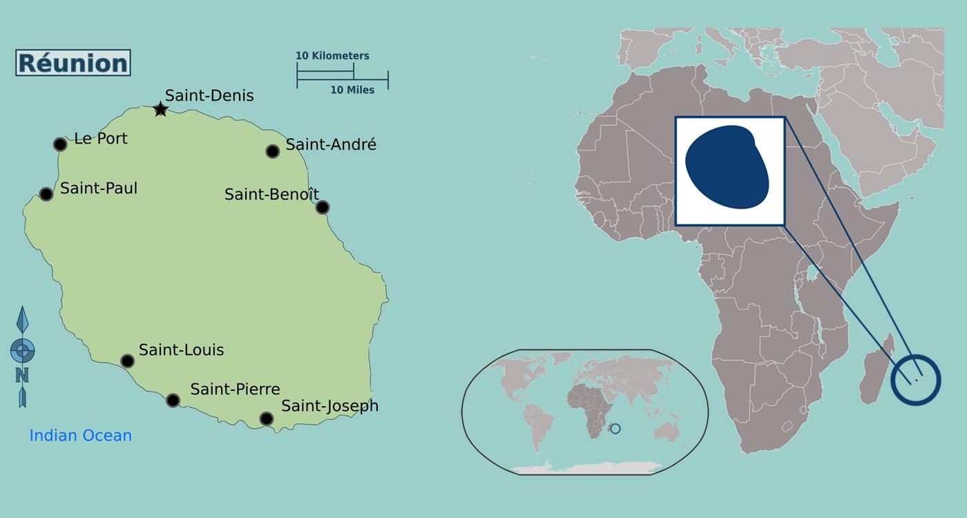 africa map reunion