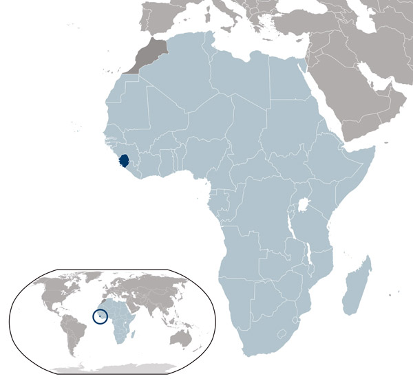 Sierra Leone detailed location map. Detailed location map of Sierra Leone.