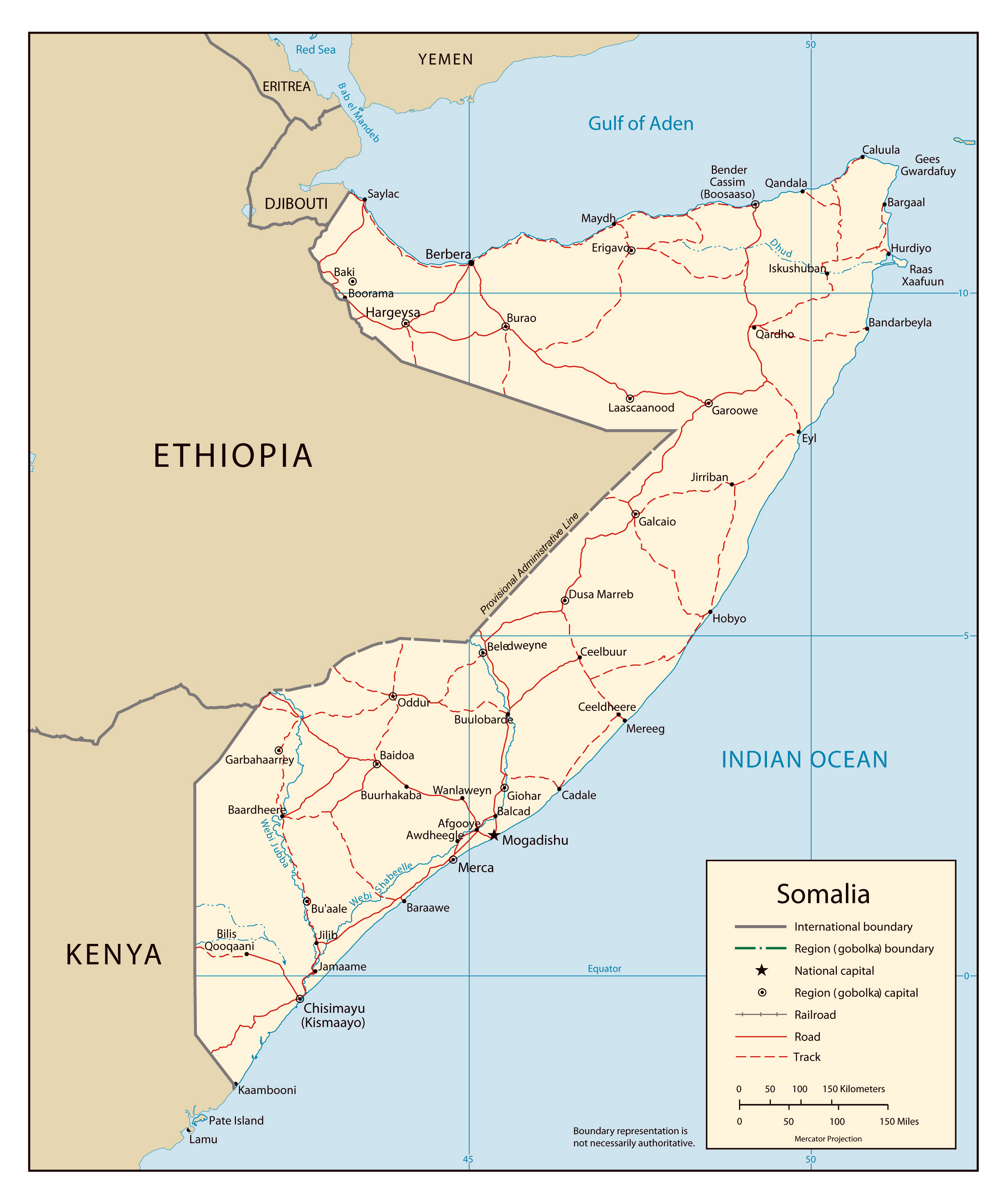 Map of Somalia with cities Somalia map with cities Vidianicom