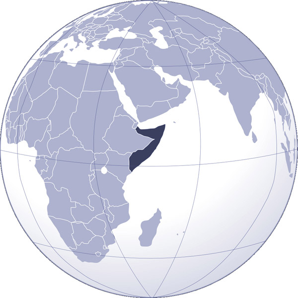 Where is Somalia located? Detailed map of Somalia location.