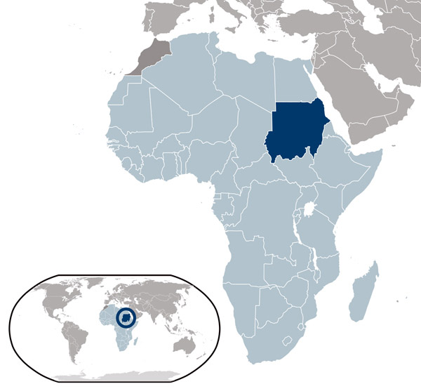Sudan detailed location map. Detailed location map of Sudan.