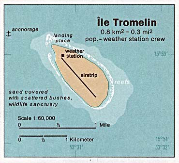 Detailed map of Tromelin Island. Tromelin Island detailed map.