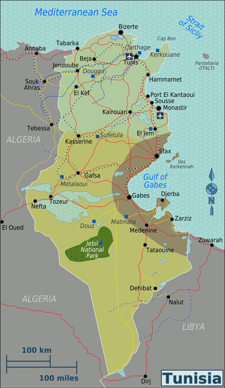 Full political map of tunisia tunisia full political map vidiani full political map of tunisia tunisia full political map gumiabroncs Image collections