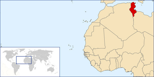 Tunisia detailed location map. Detailed location map of Tunisia.