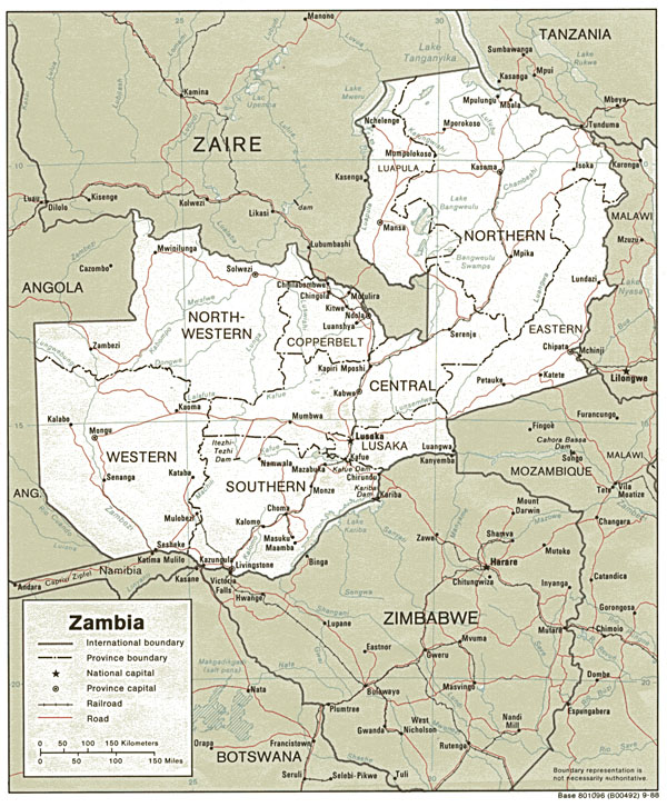 Detailed political and administrative map of Zambia. Zambia detailed political and administrative map.