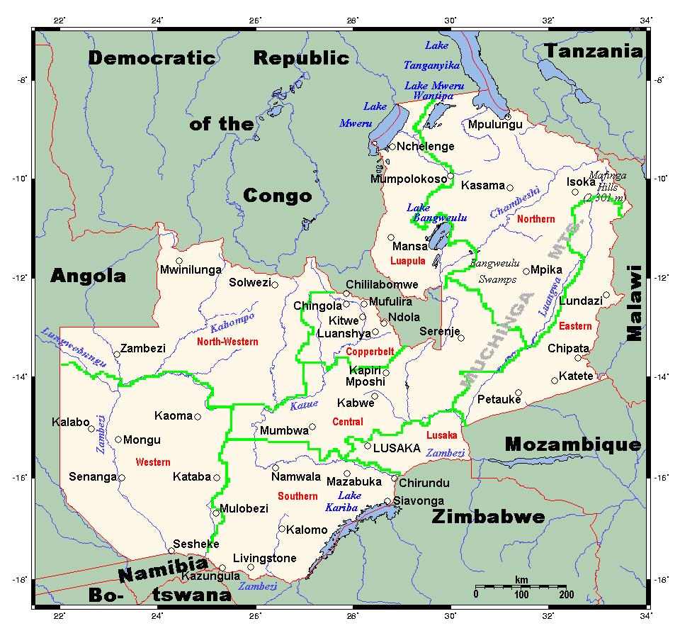 zambia political map - photo #7