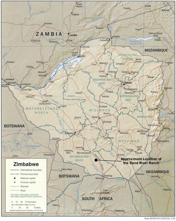 Detailed relief and political map of Zimbabwe. Zimbabwe detailed relief and political map.