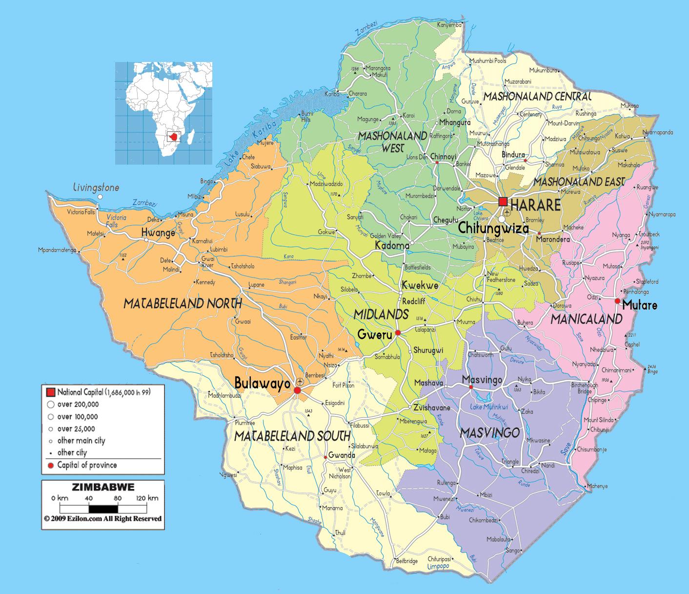 Large detailed administrative map of zimbabwe with all cities roads large detailed administrative map of zimbabwe with all cities roads and airports gumiabroncs Gallery