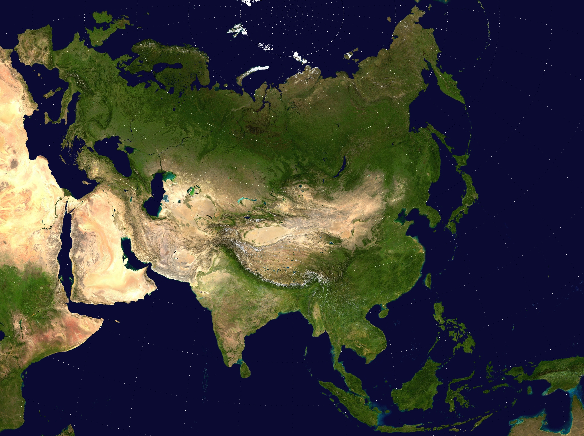 large detailed satellite map of asia asia large detailed satellite map