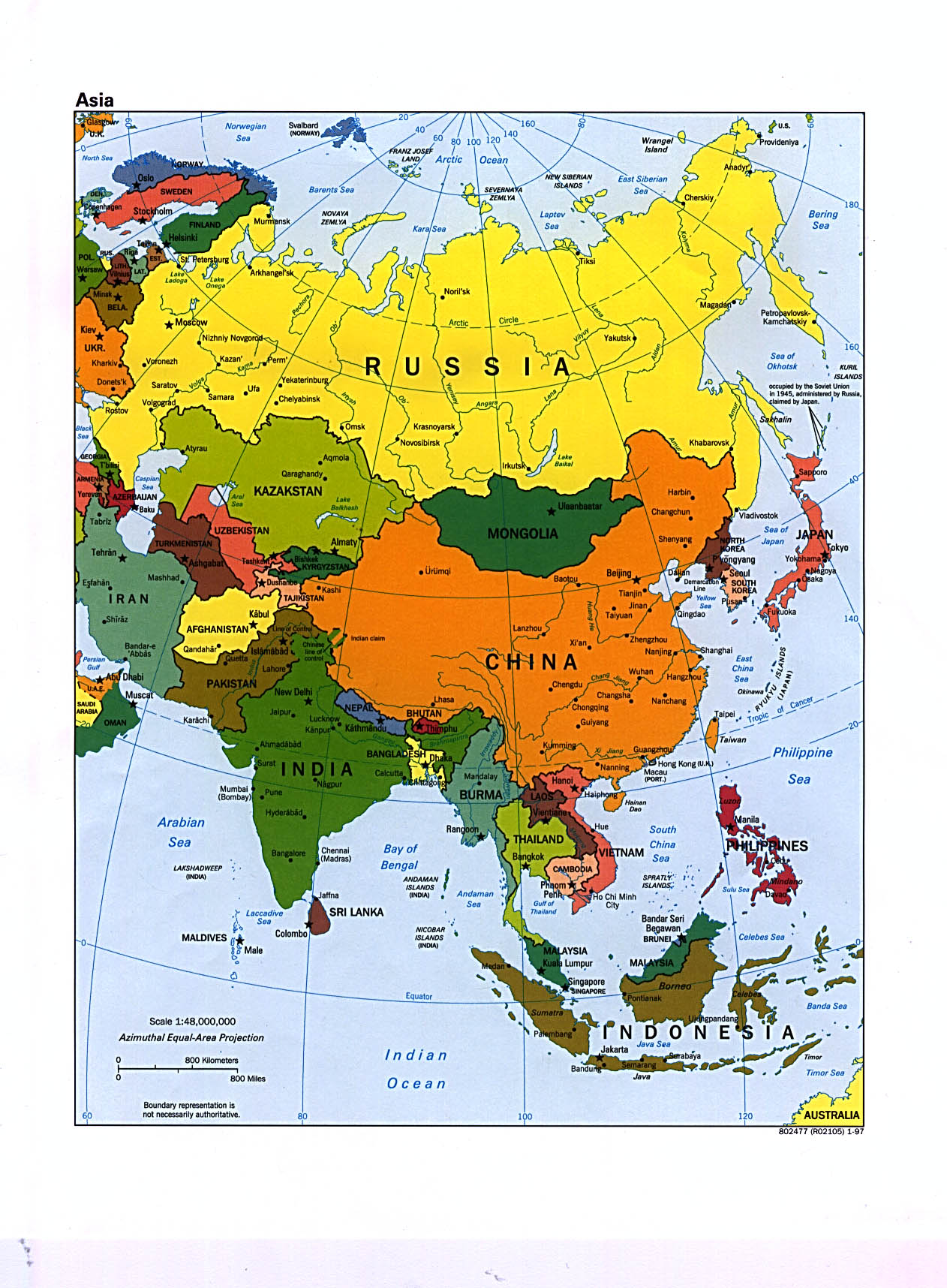 Large Map Of Asia.Large Political Map Of Asia Asia Large Political Map