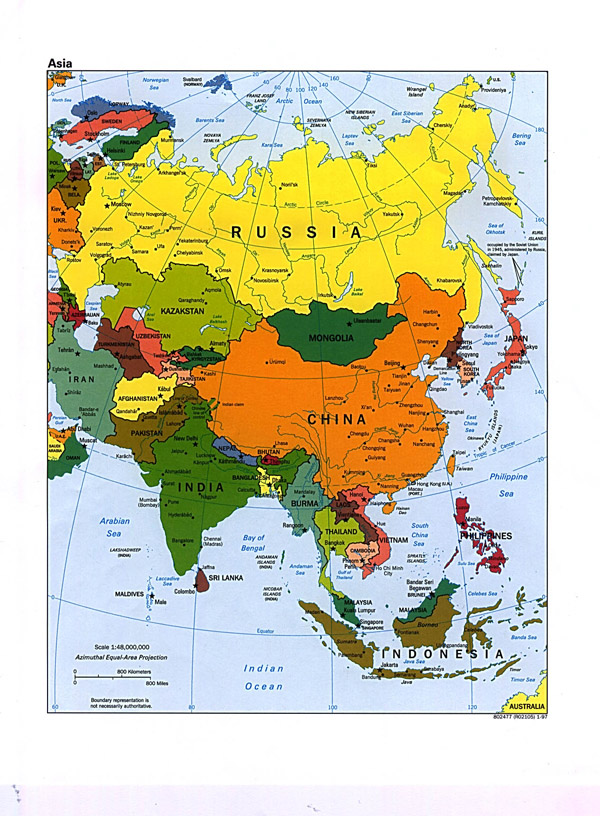 Large political map of Asia. Asia large political map.