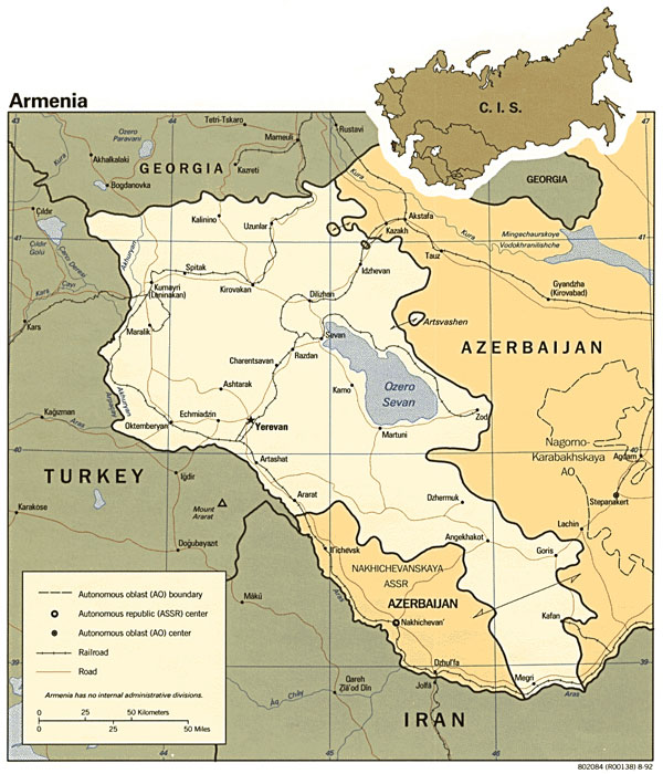 Political map of Armenia. Armenia political map.