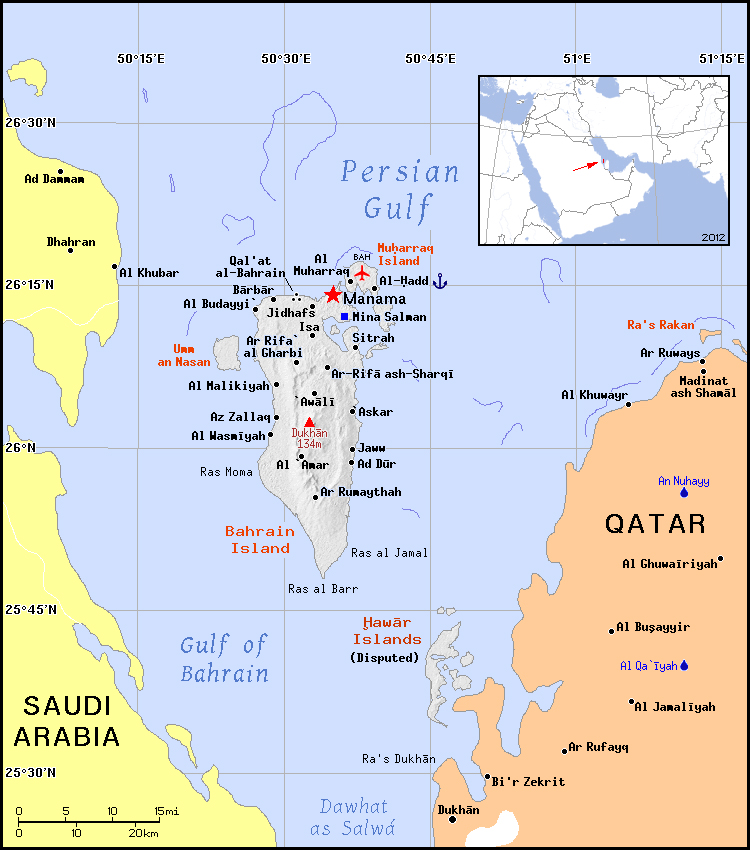 Political map of Bahrain. Bahrain political map | Vidiani.