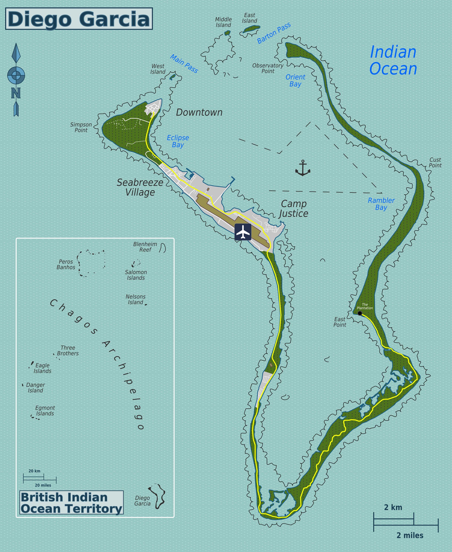 Detailed political map of British Indian Ocean Territory British