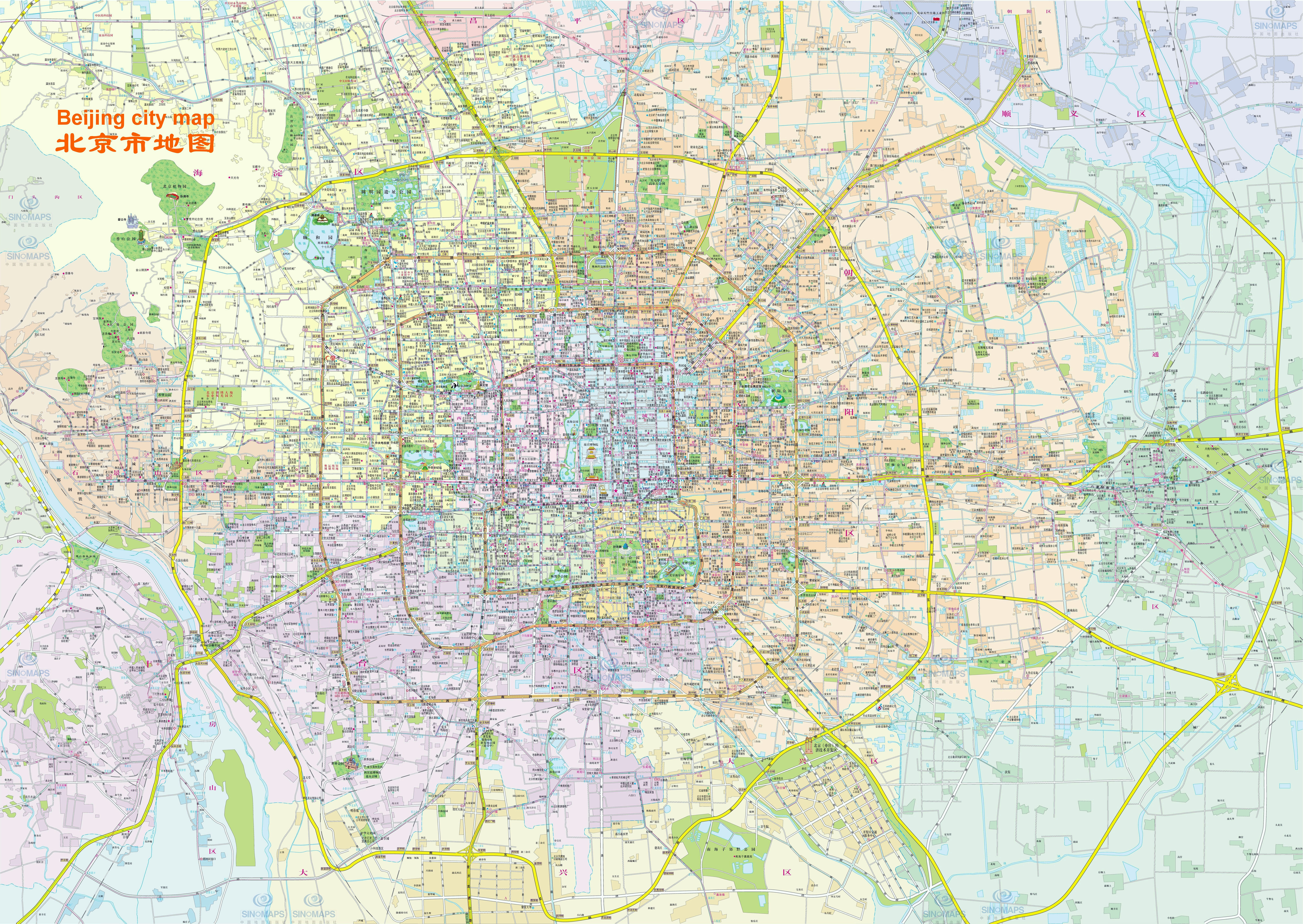 Detailed Road Map Of France.Large Detailed Road Map Of Beijing City In Chinese Vidiani Com